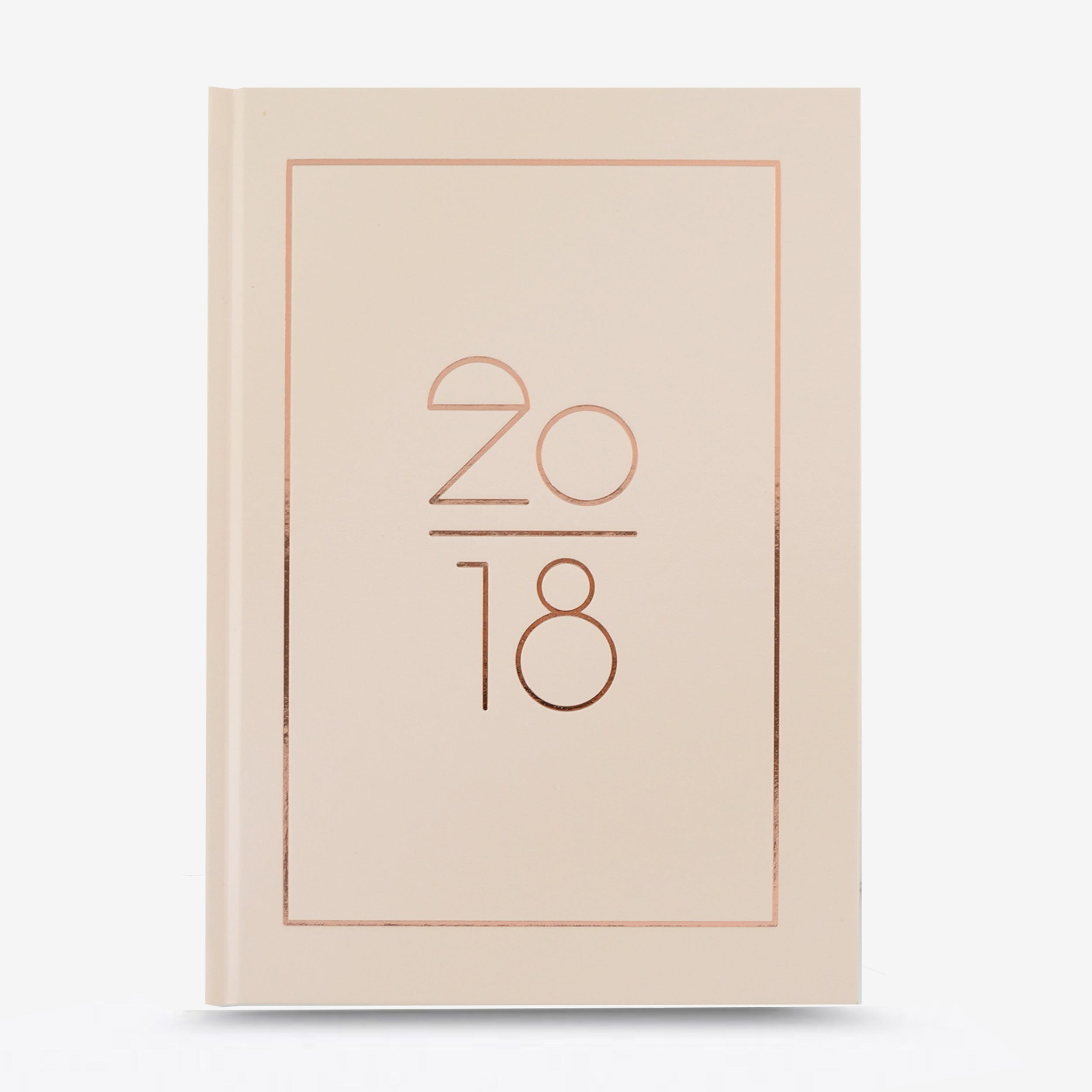 Hard Cover A5 2018 Planner in Rose