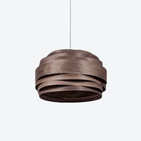 Light Cloud Lampshade in Walnut Veneer (White Cable)