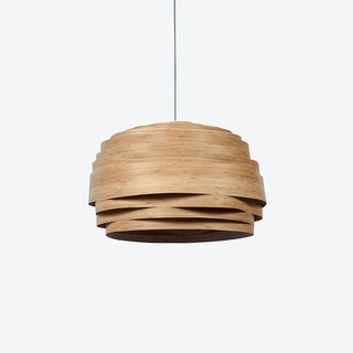 Light Cloud Lampshade in Bamboo Veneer (White Cable)