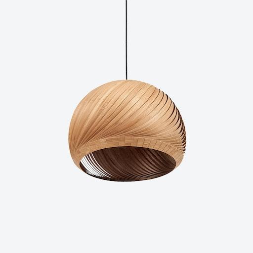 Wind Lampshade in Bamboo Veneer (Black Cable)