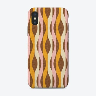 Mod Lines Yellow Phone Case