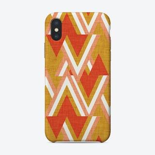 New Mid Mod Woods Mustard Phone Case