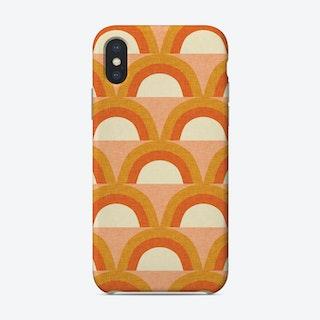 Mid Mod Rainbow Pink Phone Case