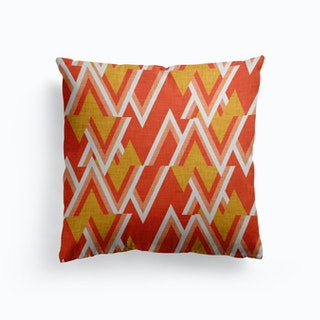 Mid Mod Woods Red Canvas Cushion