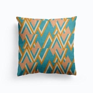 Mid Mod Woods Blues Canvas Cushion