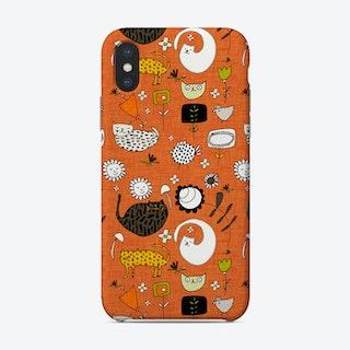 Spring Cat Orange Phone Case