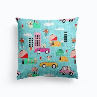 Dog Days Blue   Cushion