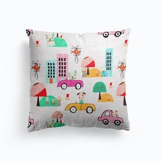 Dog Days Pink   Cushion