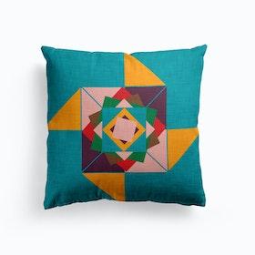 Wind Rose Blue  Cushion