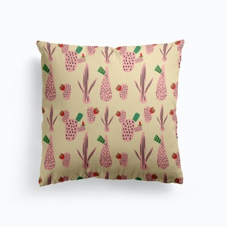 Mid Mod Cactus Pink   Cushion