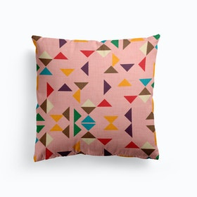 Kilim Triangle Pattern Pink   Cushion