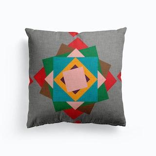 Kilim Flower Grey  Cushion