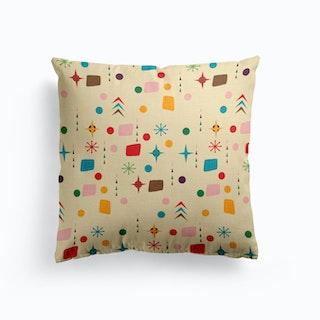 Atomic Pattern Teal   Cushion