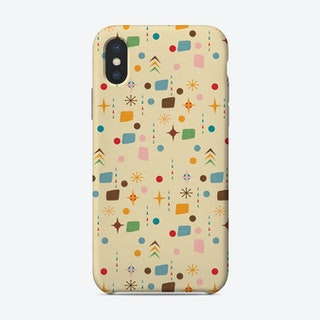 Atomic Pattern Beige Blue  Phone Case