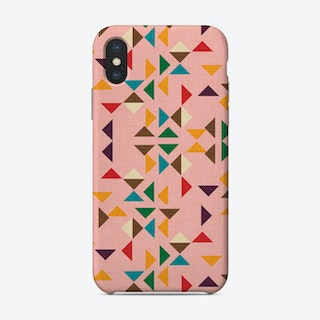 Kilim Triangle Pattern Pink   Phone Case