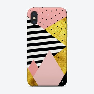 Gold Abstract Pink   Phone Case