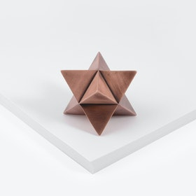 Merkaba Paperweight in Aged Copper