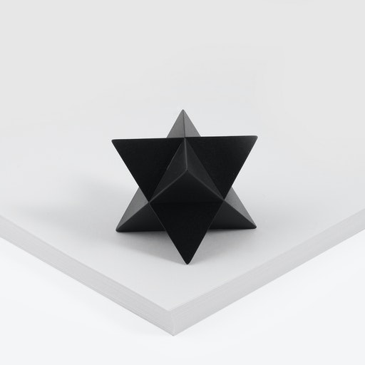 Merkaba Paperweight in Black Oxide