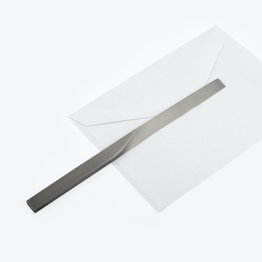 Curve Letter Opener in Satin Silver