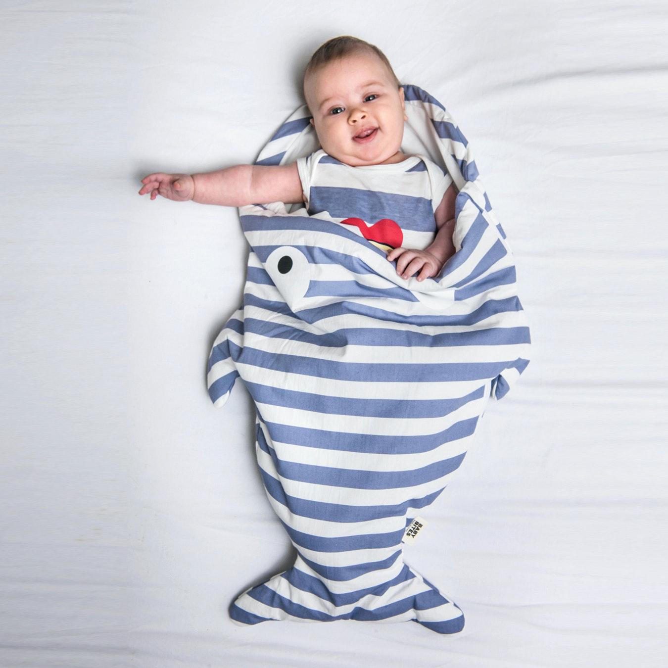 low priced 39709 d5bd9 Mini Blue Shark Sleeping Bag