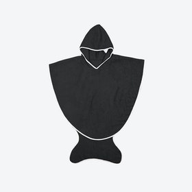 Black Fishtail Bath Towel