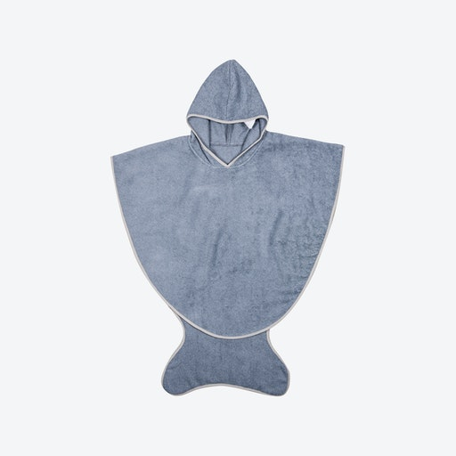 Slate Blue Fishtail Bath Towel