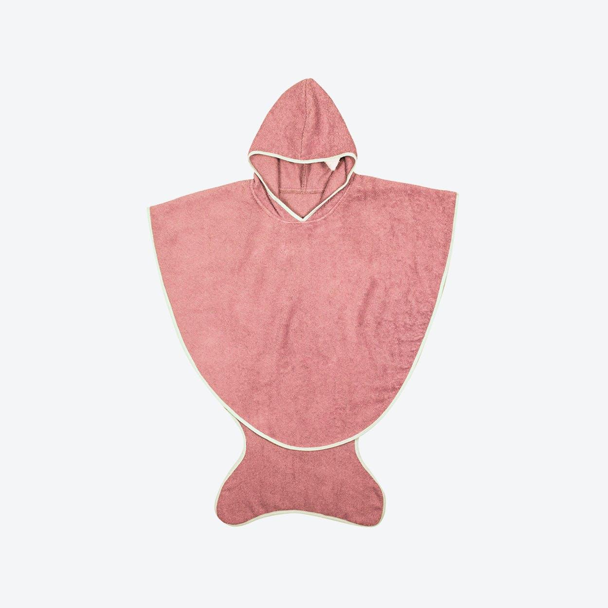 Pink Bath Fishtail Towel