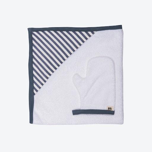 Blue Striped Newborn Towel