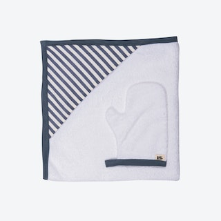 Blue Striped Newborn Towel