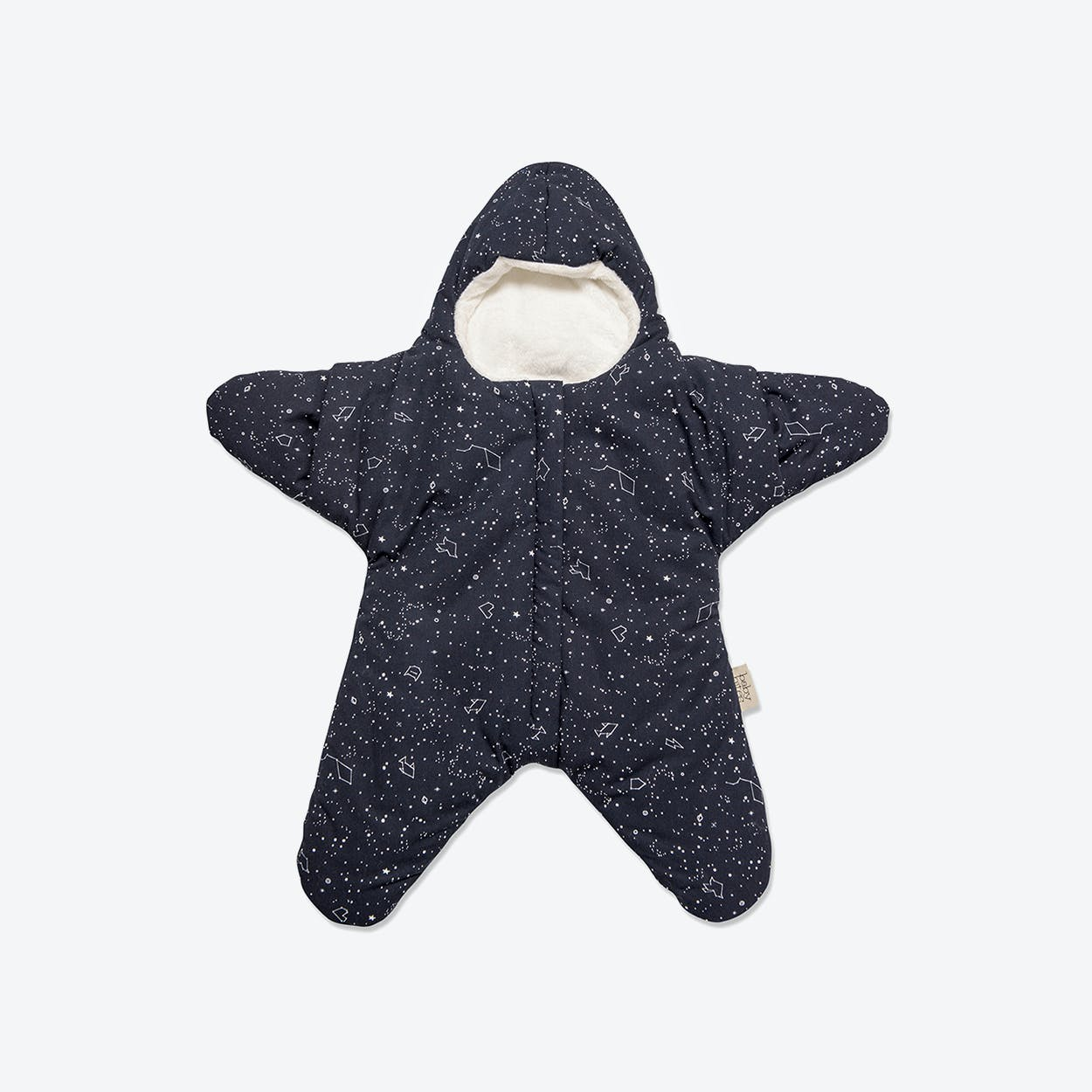 Navy Blue Star Fleece Wrap By Baby Bites Fy