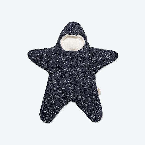 Navy Blue Star Fleece Wrap By Baby Bites Fy