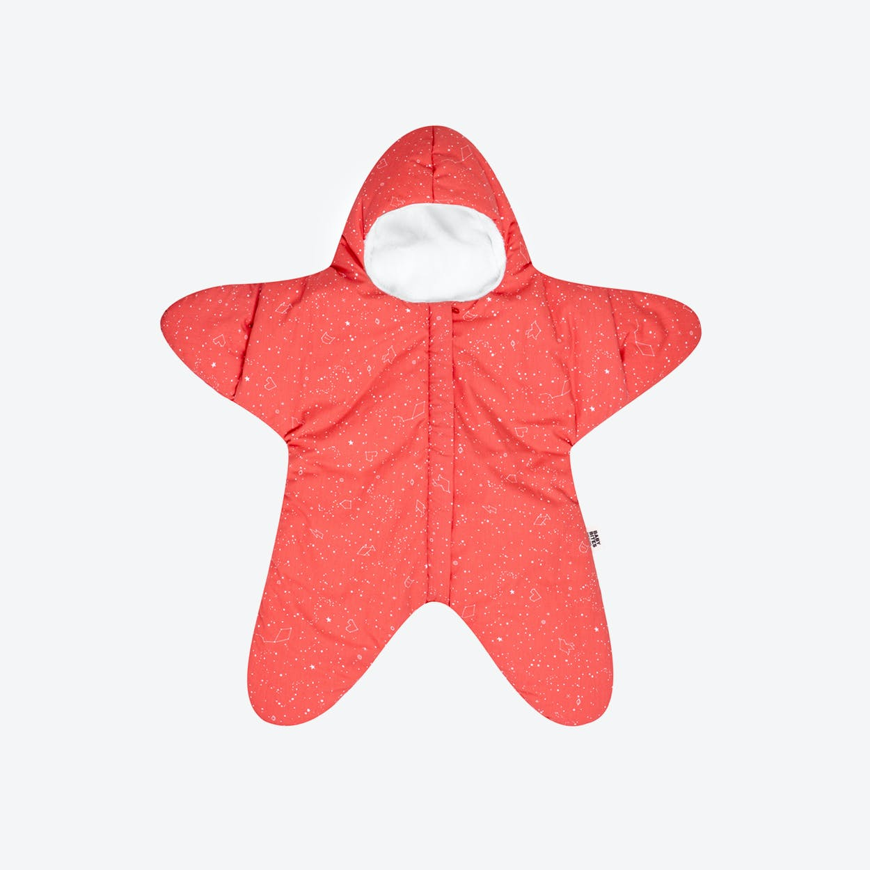 Coral Star Fleece Wrap