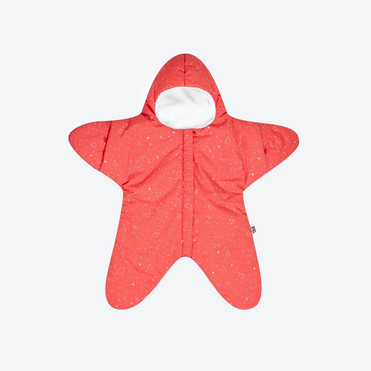 Coral Star Fleece Wrap