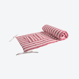 Reversible Pink Striped Cot Protector