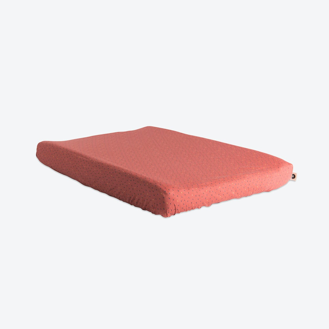 Coral Polka Dot Changing Mat Cover