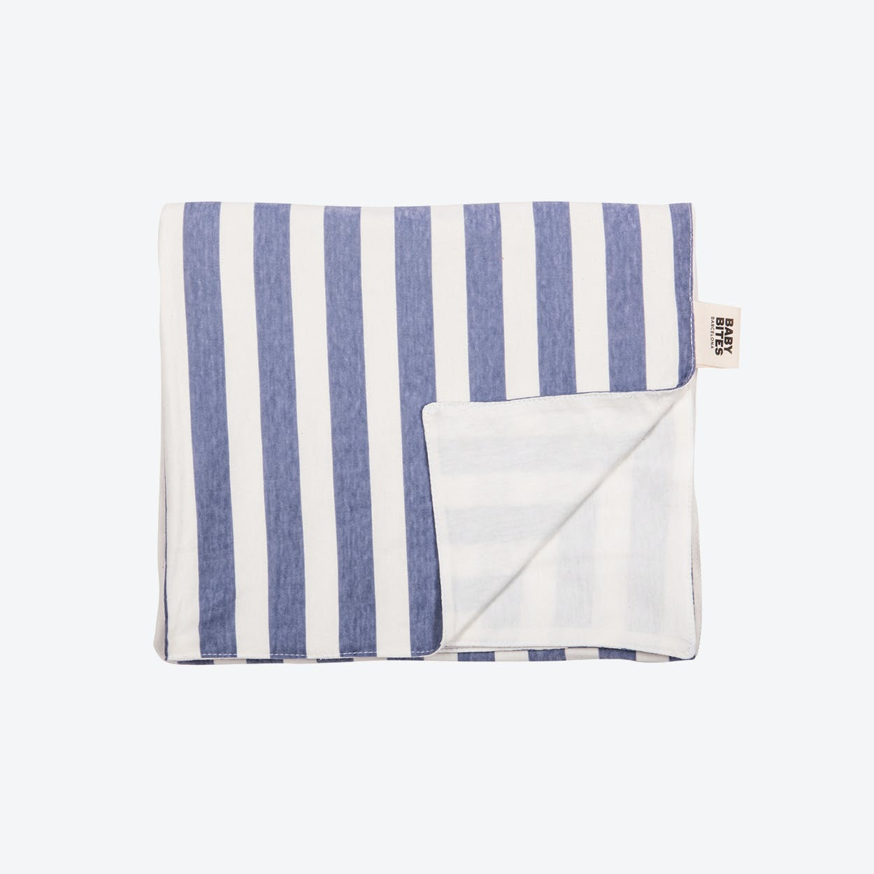 Blue Striped Baby Bouncer Blanket