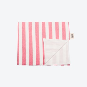 Pink Striped Baby Bouncer Blanket