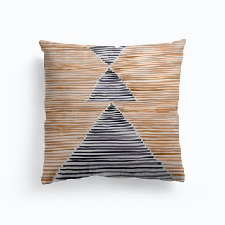 Rosario Watercolor In Burnt Orange Canvas Cushion