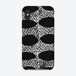 Arches Block Print In Black Phone Case