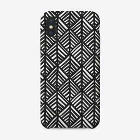 Abstract Leaf In Black And White Phone Case