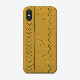 Moroccan Stripe In Mustard Yellow Phone Case