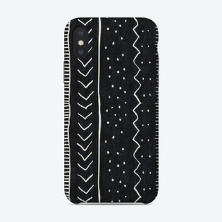 Moroccan Stripe In Black And White Phone Case