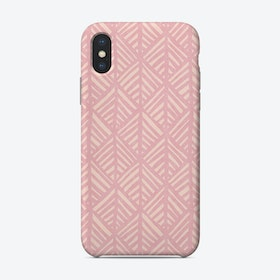 Abstract Leaf In Pink Phone Case