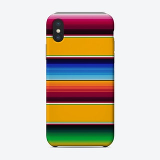 Traditional Mexican Serape In Yellow Phone Case