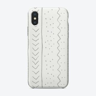 Moroccan Stripe In Grey Phone Case