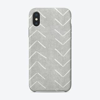 Mud Cloth Big Arrows In Grey Phone Case