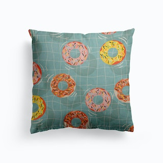 Pool Party Donuts Canvas Cushion