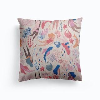 Almost Mermaid Canvas Cushion