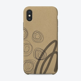 Brown Paper Phone Case