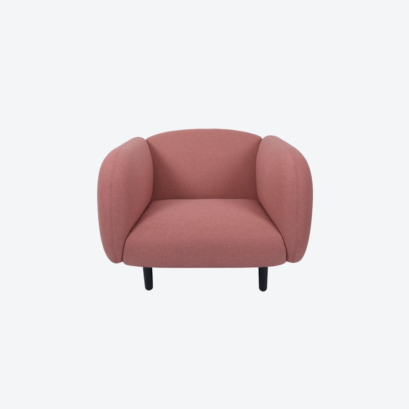 Fabric Moira Armchair - Pink